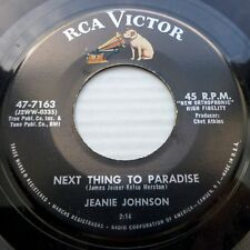 JEANIE JOHNSON Next thing to paradise My Jimmie 1958 TEEN POP 45 on RCA e5194