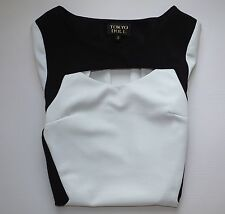 Womens TOKYO DOLL Bodycon Thigh Length Dress Size 8 Black/ White