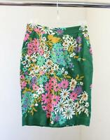 Odille Anthropologie Abronia Floral Print Pencil Straight Skirt Green Size 0