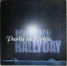 """JOHNNY HALLYDAY - CD SINGLE PROMO """"PARTIE DE CARTES"""""""