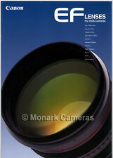 Canon EF Series Autofocus Lens Brochure 1996. Other Camera Catalogues Listed.