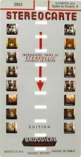Stereocarte Bruguière n °2862 - Eglise Rosaire B - Lourdes (12)  - 8 Vues -