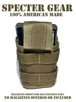 SPECTER GEAR 287 COYOTE USMC US MILITARY MOLLE SINGLE 20 ROUND RIFLE MAG POUCH