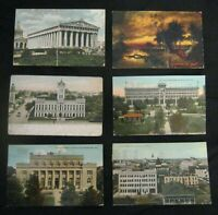 33 Postcards from Early United States (various cities & people) 1907-1912