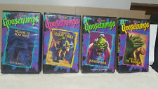 LOT OF (4)  GOOSEBUMPS VHS / R.L.STINE, HAUNTED MASK, NIGHT IN TERROR TOWER, ETC