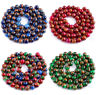 6/8/10mm Ruby Sapphire Emerald in Quartz with Pyrite Round Loose Beads 15'' AAA+