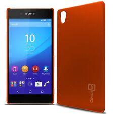 for Sony Xperia Z5 Case - Neon Orange Slim Plastic Hard Back Cover