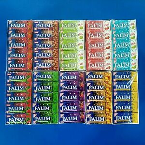 Falim Flavoured Sugarfree Chewing Gum 20 packs of 5 = 100 pieces MASTIC NATURAL