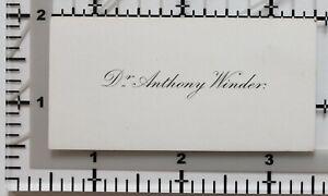 Antik Calling Card Dr Anthony Wickler