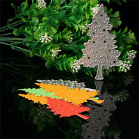 2Pcs Christmas Tree Cutting Stencil Scrapbooking Album Card Embossing Template