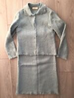 Caractere Vintage Light Blue Skirt And Blazer Set, Size 6