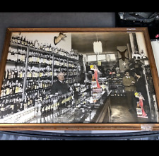 1950's Acme beer Advertisement colored picture on cardboard original with frame