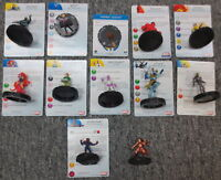 Lot of 12 Marvel Comics Heroclix Figures and Cards - Collection