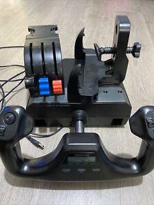 Logitech G Saitek Pro Flight Yoke System Flight Simulator Throttle Quadrant