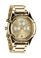 NIXON CAMDEN CHRONO CHAMPAGNE GOLD/SILVER WATCH A354 1219 NEW IN BOX! A3541219