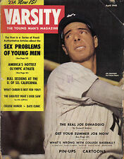 1948 (Apr.), Varsity , baseball, magazine, Joe DiMaggio, New York Yankees