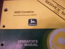 John Deere Tractor Operator'S Manual 4425 Combine Issue D7