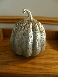 Pottery Barn Handcrafted Antiqued Glass Mosaic Pumpkin-Fall,Autumn - New