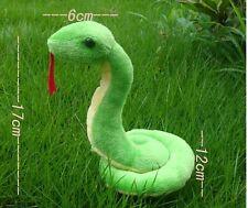 17cm Big Snake Green Soft Plush Toy Zodiac Stuffed Animal Doll Kid Birthday Gift