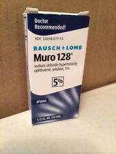 NEW Bausch & Lomb Muro 128 5% Solution 1/2 fl oz 15ml Expires November 2018