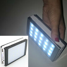 US 50000mah Solar External Power Bank 20 LED 2USB Battery Charger For Cell Phone