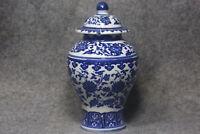 Antique China Jingdezhen blue and white porcelain cans W7