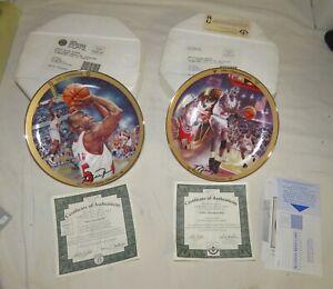 Michael Jordan Upper Deck Bradford Exchange Limited Edition Collectors Plates(2)