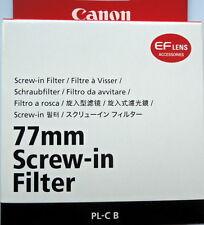 Canon 77mm PL-C B  Polarizing Filter Genuine Canon new