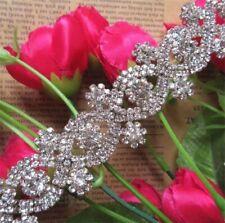 Rhinestone Diamante Trim Wedding Dress Belt Bridal Beaded Applique