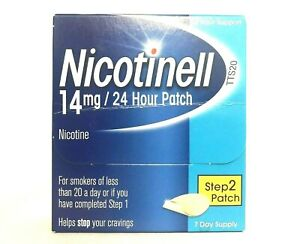 Nicotinell Step 2 Patches 14mg 24 Hour 7 Day Supply FREE UK 1st Class Postage