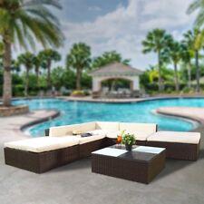 Ajuste de asiento del asiento salón silla sofá al aire libre muebles marrón 16 PC comprar
