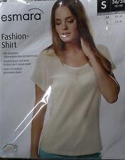 Elegantes Damen Fashion Shirt * S 36/38 * Creme * esmara * OVP