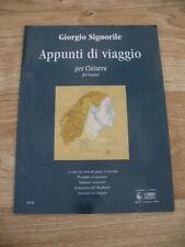 Giorgio Signorile - Appunti di Viaggio (Guitar Sheet Music 2008) NEW