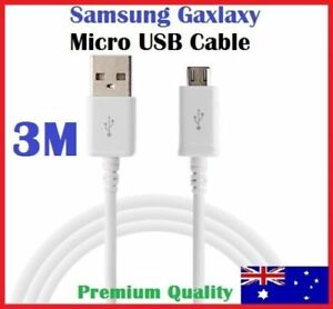 3 Meter Micro USB Data Charger Cable for SAMSUNG GALAXY S4 S5 S6 S7 Note HTC 3M