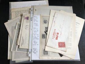 Miscellaneous Lot Stamp Dealer Ephemera, Covers, Flyers, Price List Etc 17 SCANS