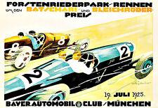 Forstenriederpark Rennen  Bayer Automobil Club Automobile Car Auto  Poster Print