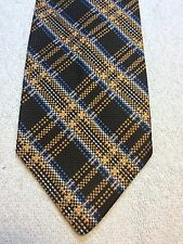 Vintage Continental Mens Tie 4 X 57 Brown With Copper And Blue, Nwt