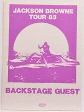 Authentic Silk Backstage Guest Pass Jackson Browne 1983 Concert Tour OTTO