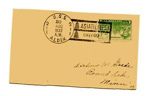 US 790 1 Navy Post Card USS Alden Asiatic Fleet -  Chefoo China  Aug 20,1934