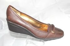 Circa JOAN & DAVID Brown Leather Wedge Shoes Horse Bit LUXE SERIES Women Size 10