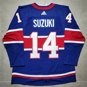 Size 50 Montreal Canadiens Reverse Retro Adidas Authentic NHL Jersey Nick Suzuki