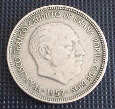 5 PESETAS 1957 ESTRELLA   * 57 - FRANCISCO   FRANCO CAUDILLO