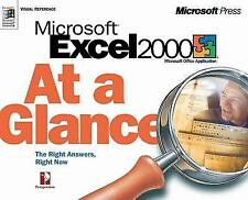 MS EXCEL 2000 AT A GLANCE AT A GLANCE MICROSOFT By Perspecti **BRAND NEW**