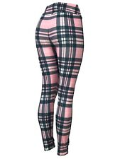 Pink, Black & White Plaid Leggings Amazing Colors - One Size, Curvy, Diva