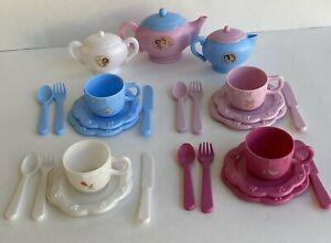 Disney Princess Tea Set & Dishes Play Set Make Believe Pretend 30 Pieces Total