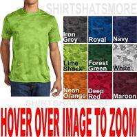 Mens Moisture Wicking Digital Camo Athletic T-Shirt Tagless XS-XL 2X, 3X, 4X NEW