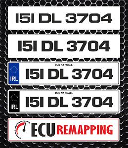 Show Custom Number Plate For Ireland / EU Use Not DVLA Or GB Use Due To DVLA Reg
