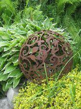 Edelrost Barockkugel  50 cm Kugel Rost Eisen Metall Deko Gartendeko  Patina