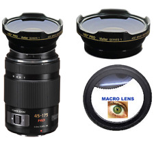 HD3 WIDE ANGLE + MACRO LENS FOR Panasonic Lumix G X Vario PZ 45-175mm f/4-5.6