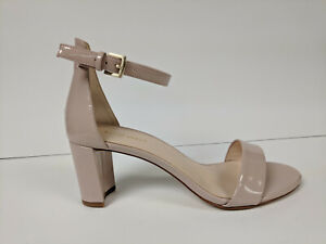 Nine West Pruce Heeled Sandal, Natural, Womens 7.5 M